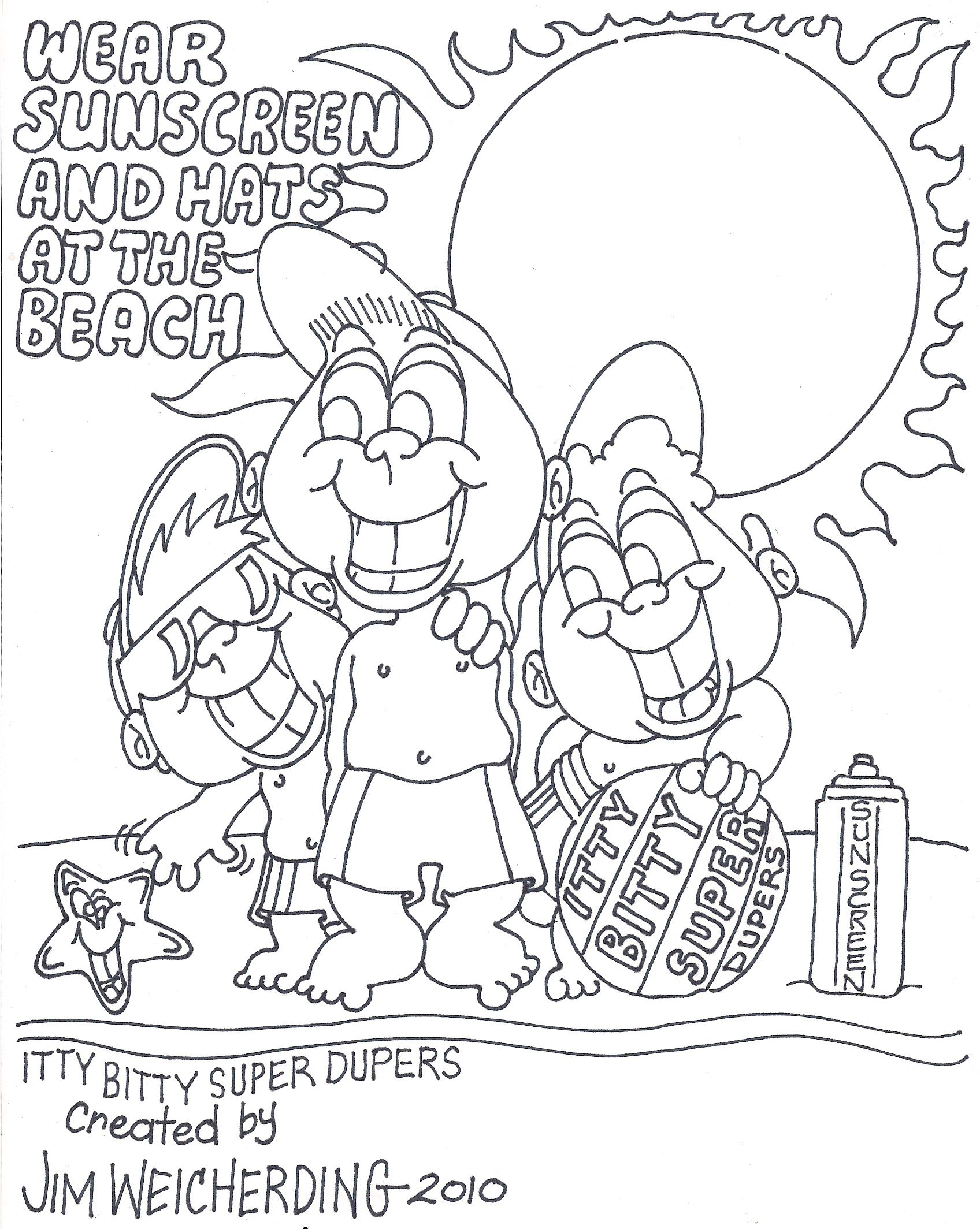Sun safety coloring pages coloring home for Home safety coloring pages