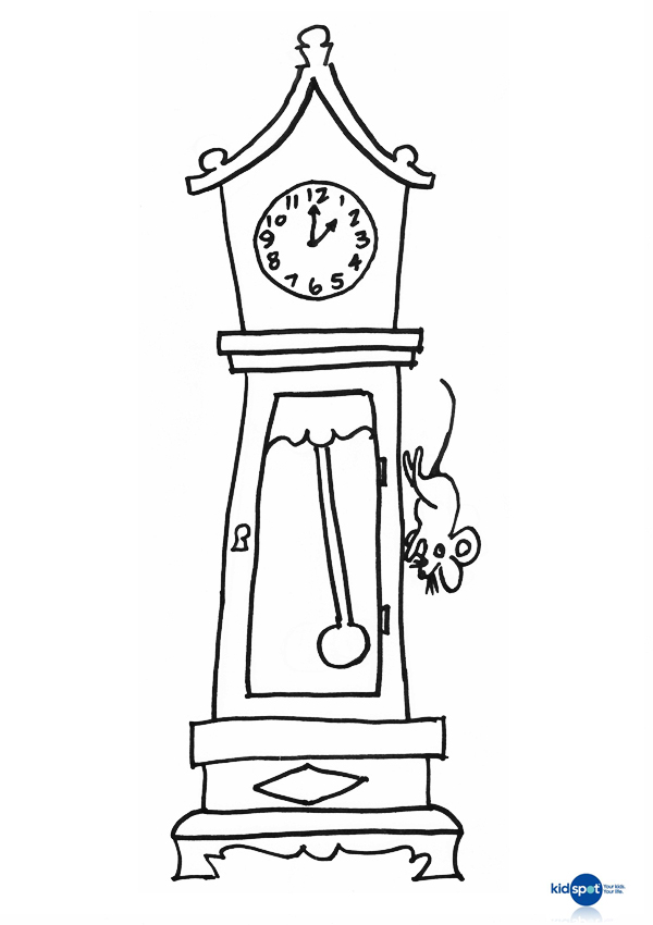 Hickory Dickory Dock Coloring Pages