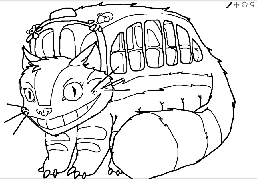 8 pics of totoro cat bus coloring pages - my neighbor totoro ... - Neighbor Totoro Coloring Pages
