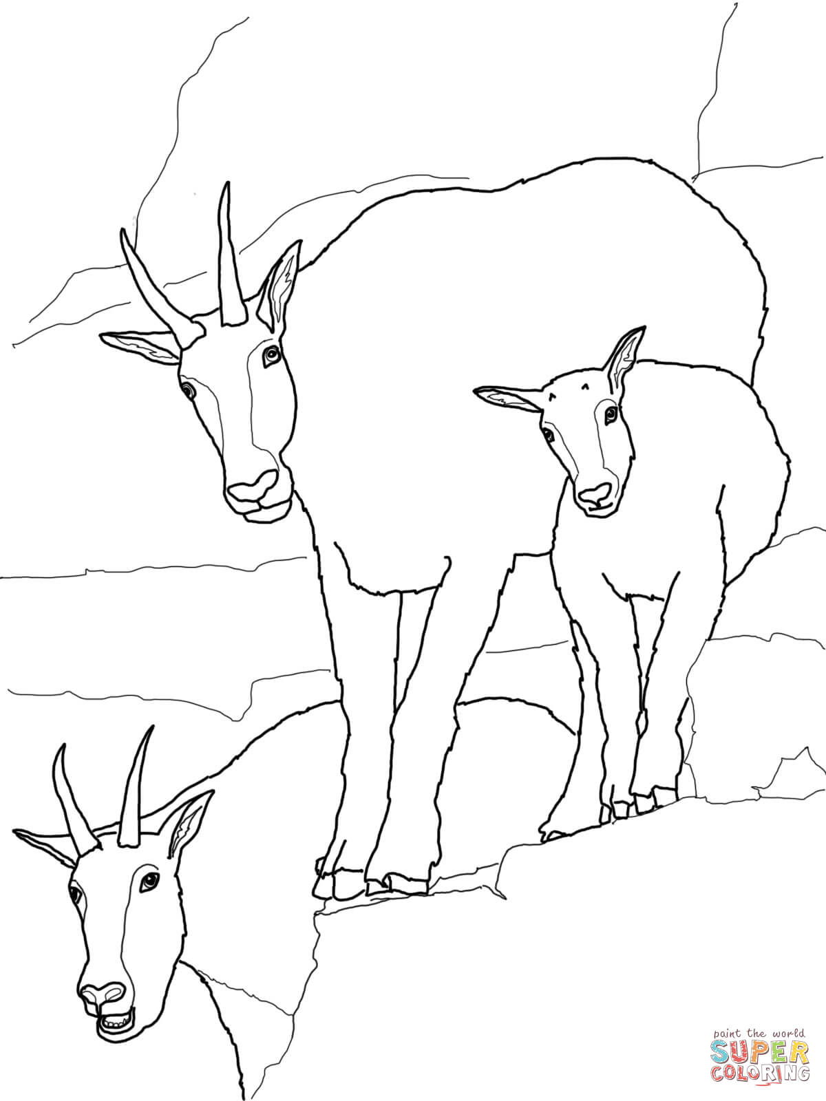 Coloring pages goat az coloring pages for Coloring pages of goats