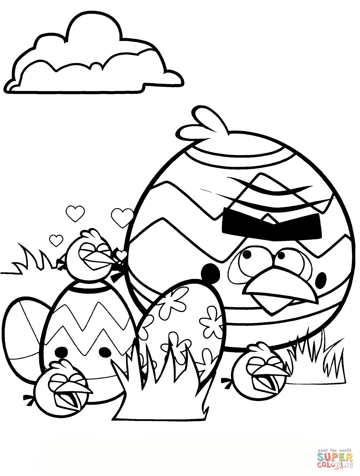 angry birds coloring pages easter - photo#27