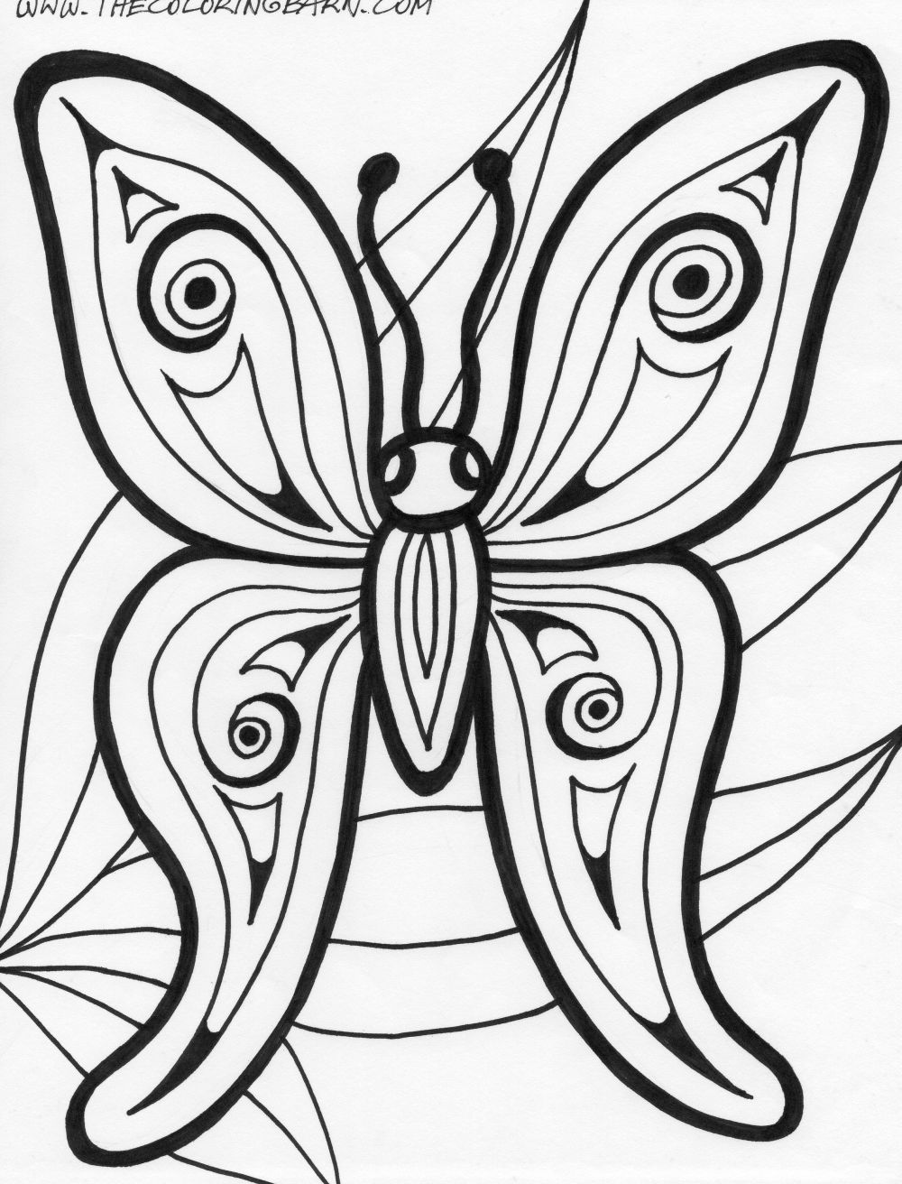 Butterfly template coloring page az coloring pages for Butterfly coloring pages