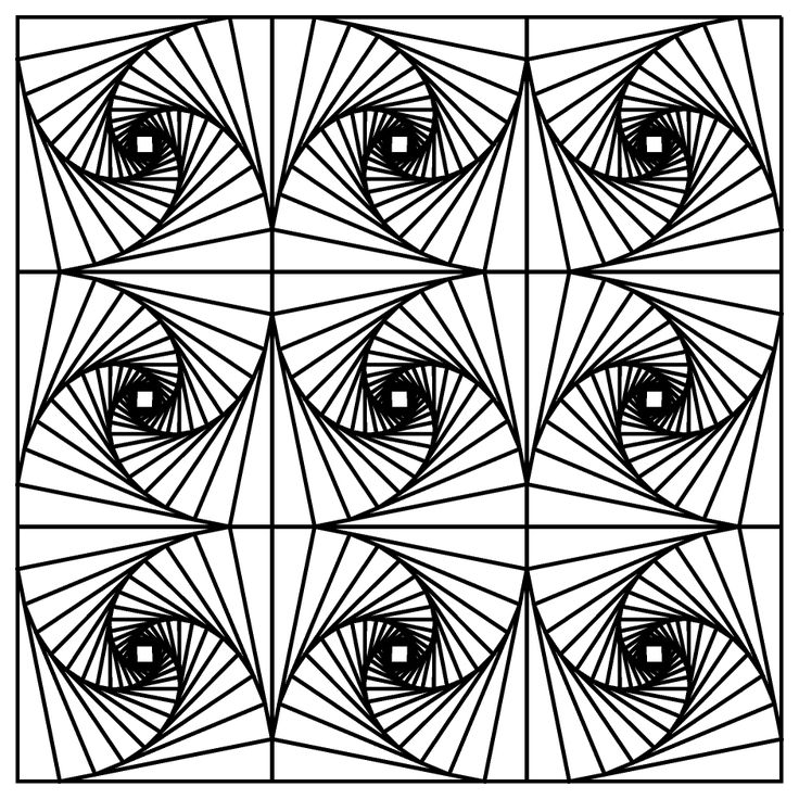 fractal coloring pages for kids - photo#4