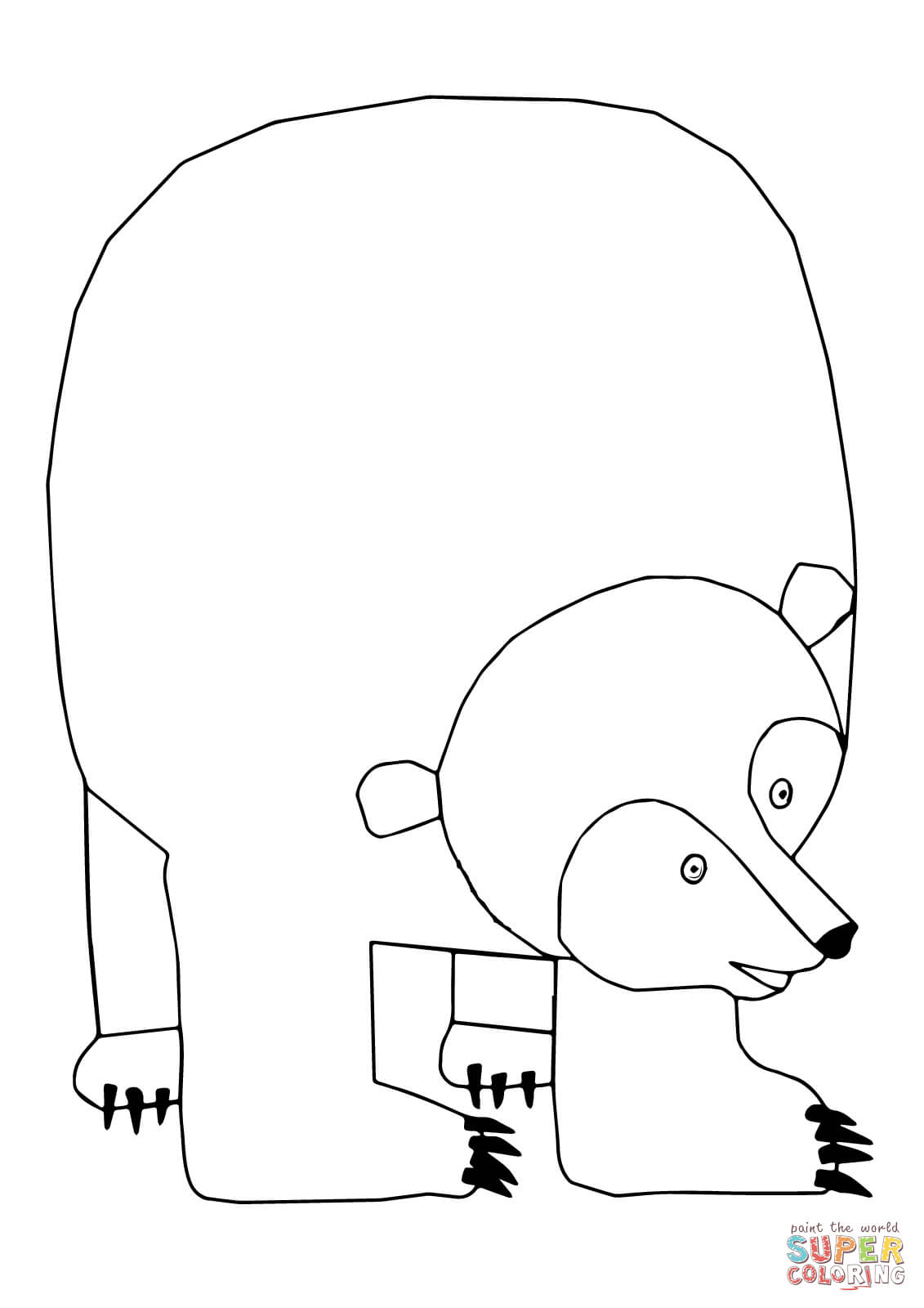 Brown Bear Brown Bear What Do You See Coloring Pages ...
