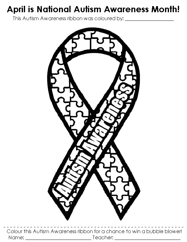 autism awareness month coloring pages - photo#2