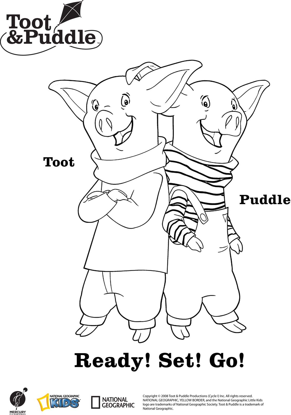 Toot And Puddle Coloring Page