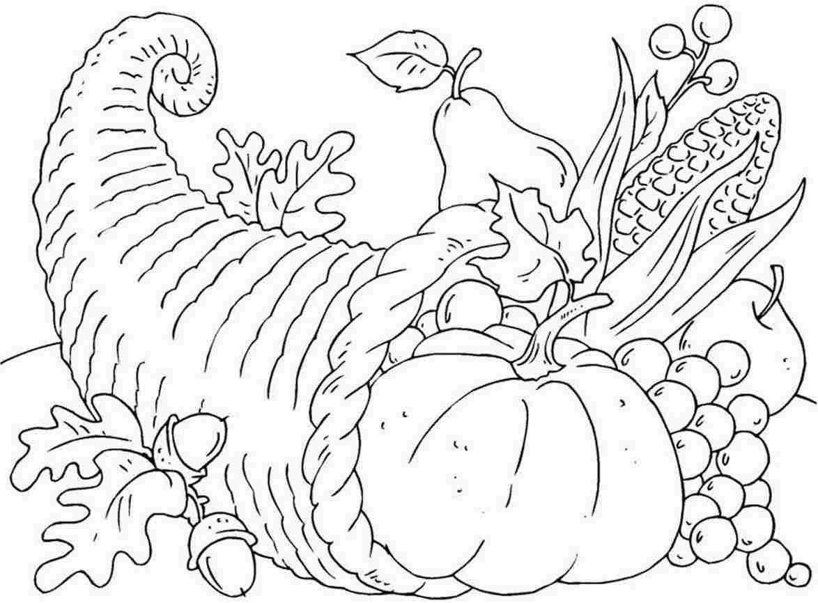 Free Printable Cornucopia Coloring Pages - Coloring Home