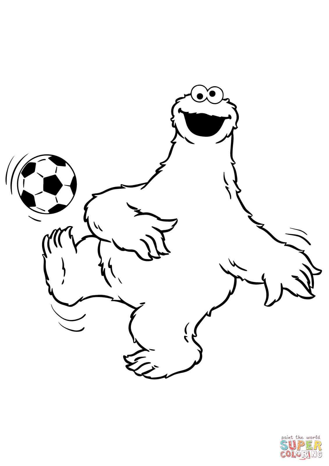 Dot To Dot Cookie Monster Coloring Pages Free - Coloring Home