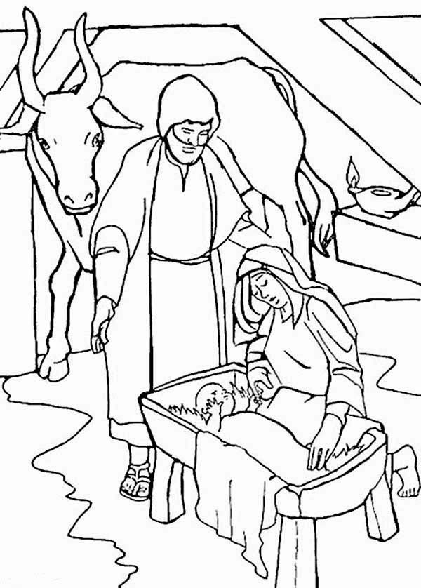 Bible Christmas Story Coloring