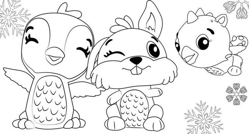 Hatchimal Coloring Pages Coloring Home