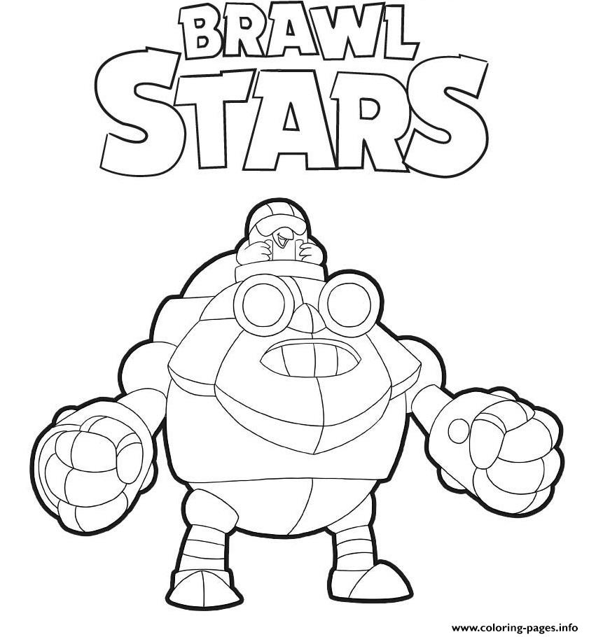 Robo Mike Brawl Stars Coloring Pages Printable