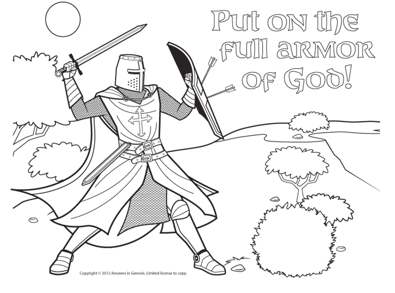 armor of god coloring pages : Kids - Greensmosaic