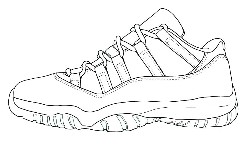 Jordan 11 Coloring Pages Coloring Home