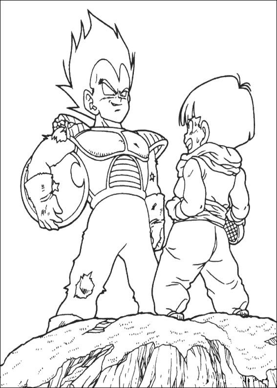 Dbz Coloring Pages Dragon Ball Z On Book