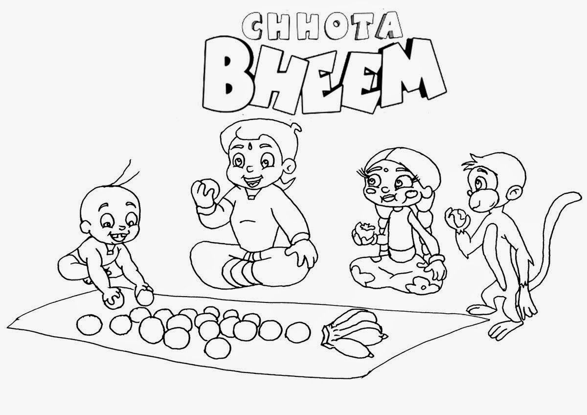 Colour Drawing Free Wallpaper Pogo Cartoon Chota Bheem Coloring