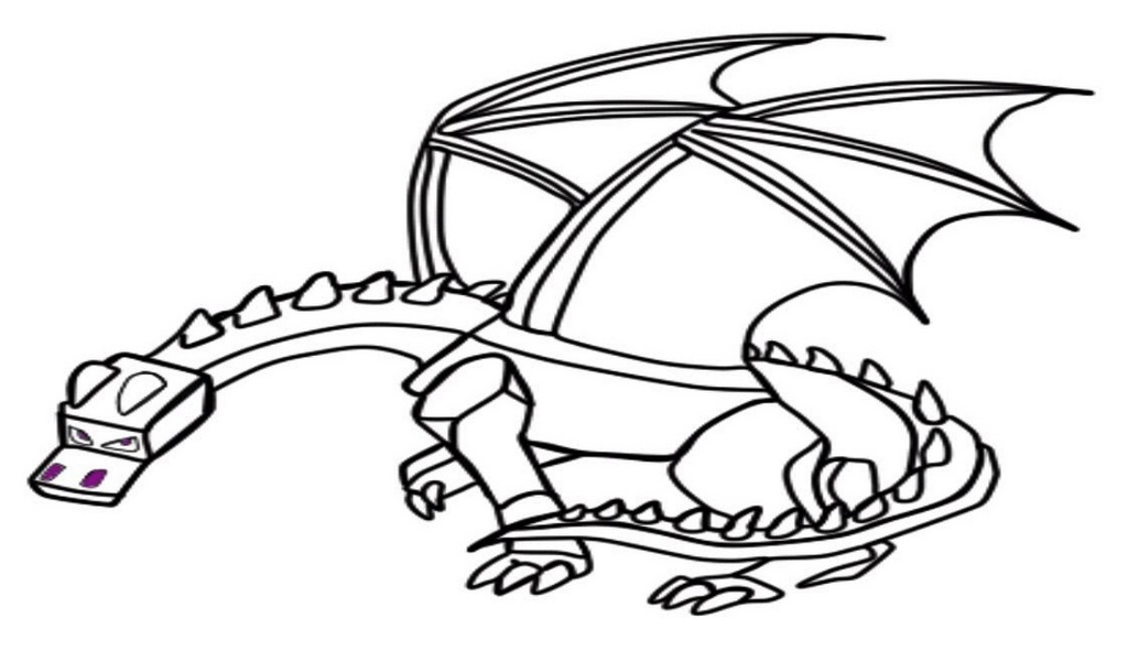 Top Minecraft Ender Dragon Coloring Pages for Children - Coloring ...