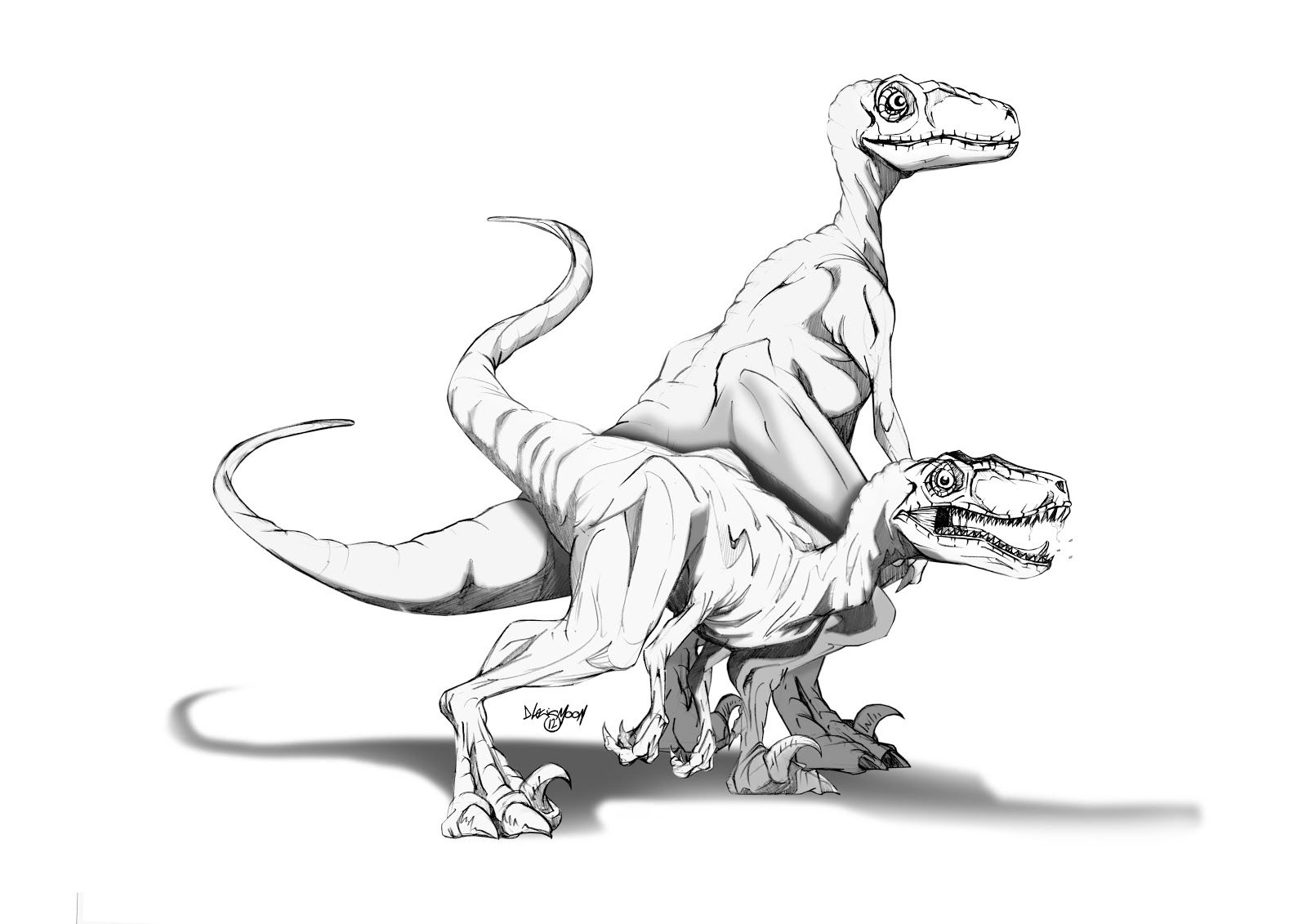 Velociraptor Coloring Page - Coloring Home