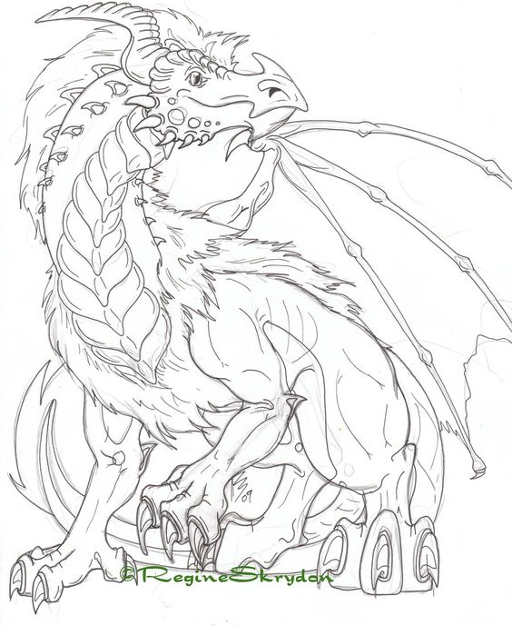 Detailed Coloring Pages For Adults Detailed Dragon Colouring -  Coloring Home