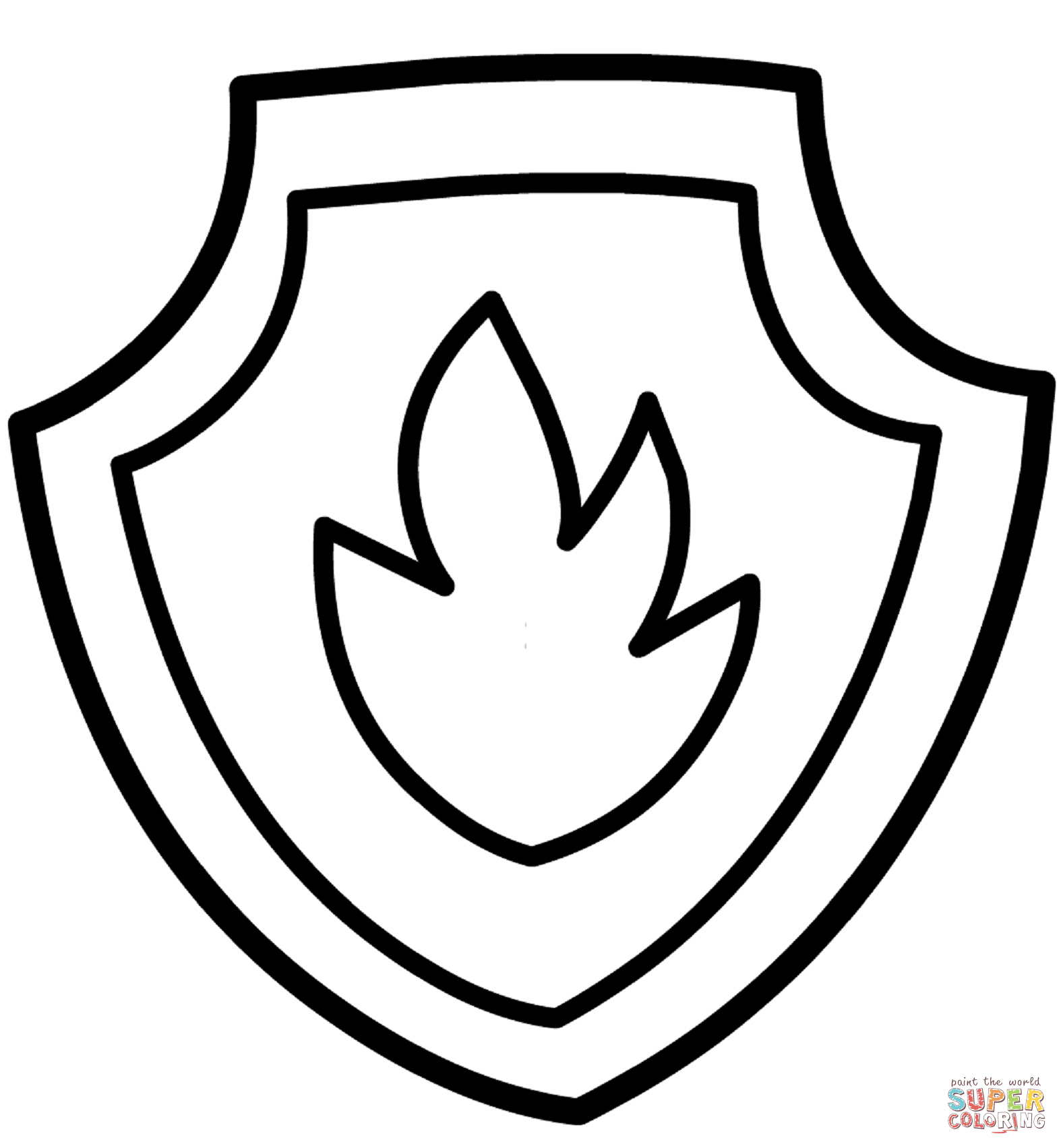 Badge Coloring Page - Coloring Home