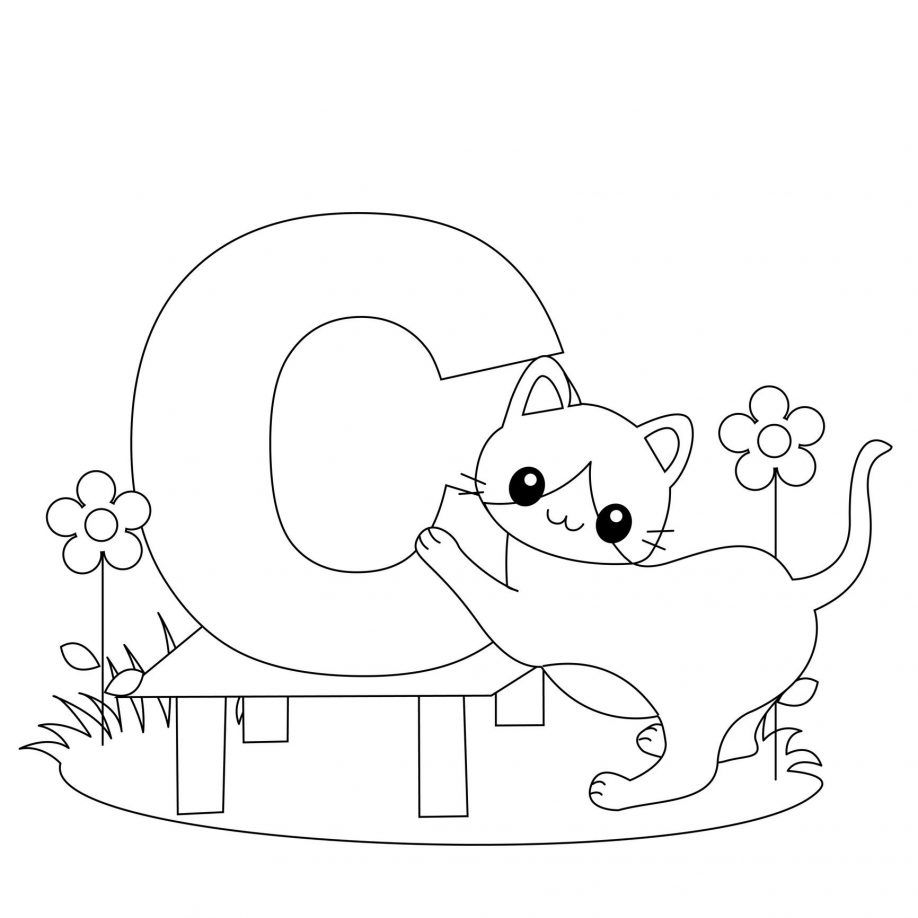 letter c cow coloring page bubble letter c coloring page kids