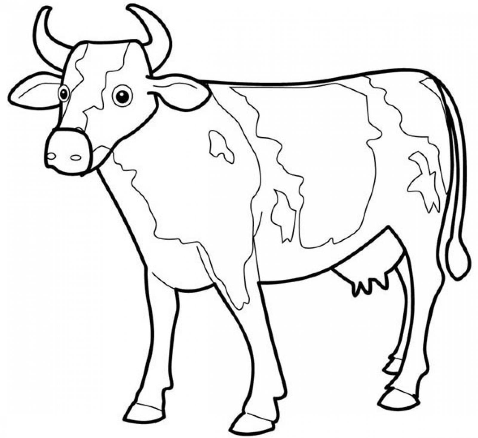 Printable Cow Coloring Pages Coloring Me Coloring Home