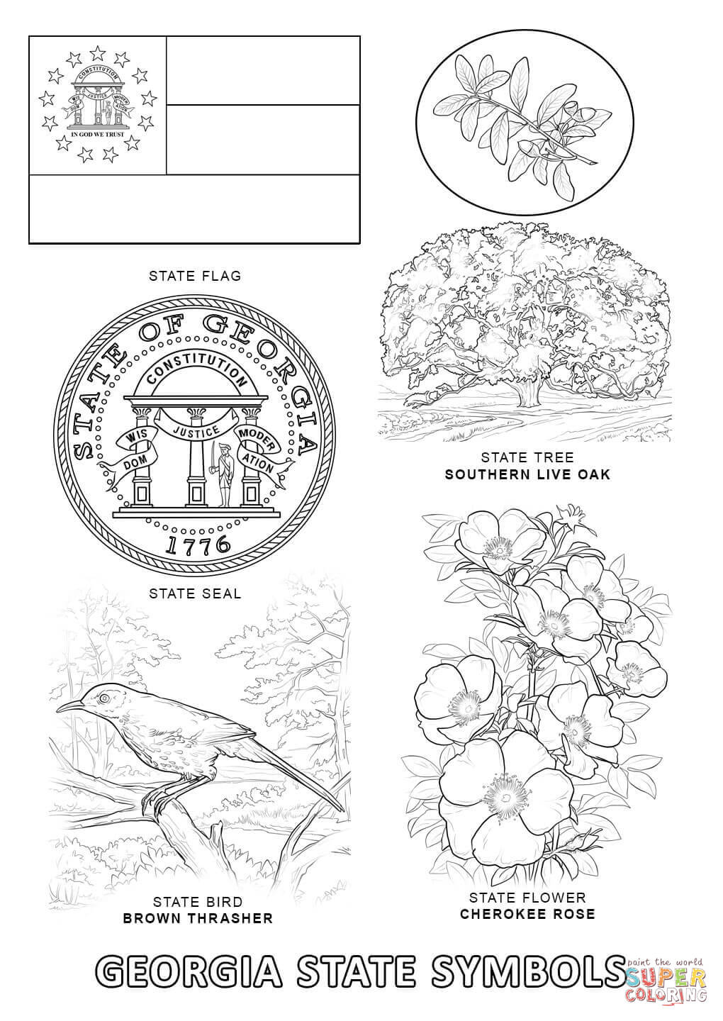 alabama state symbols coloring pages coloring home a - Symbols America Coloring Pages