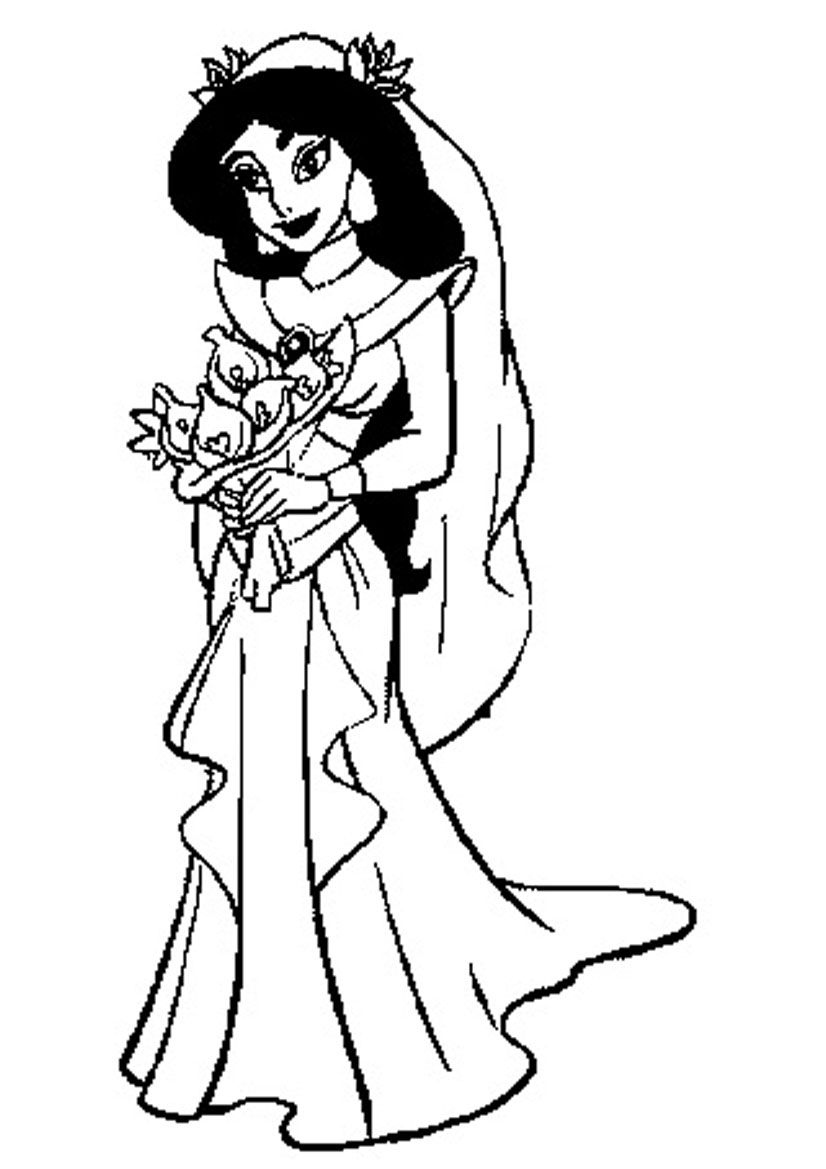 Jasmine Coloring Pages Free Printable High Quality Coloring