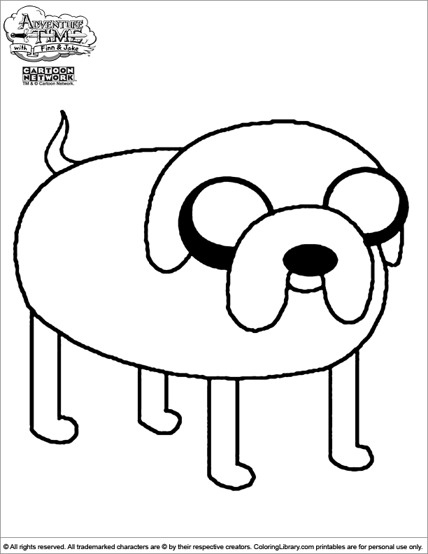 Adventure Time coloring pages in the Coloring Library