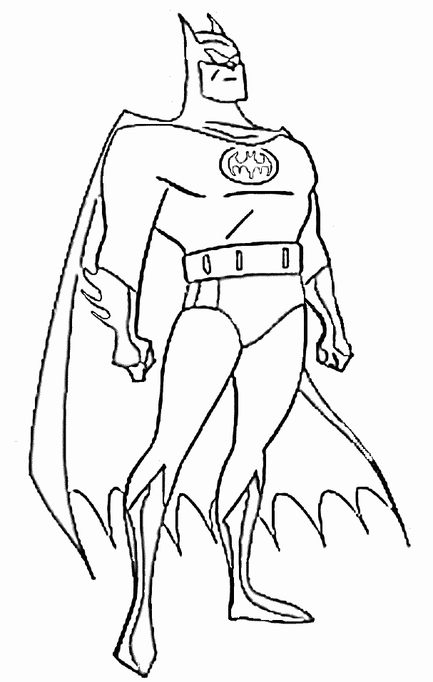 Free Colouring Pages For Boys Batman
