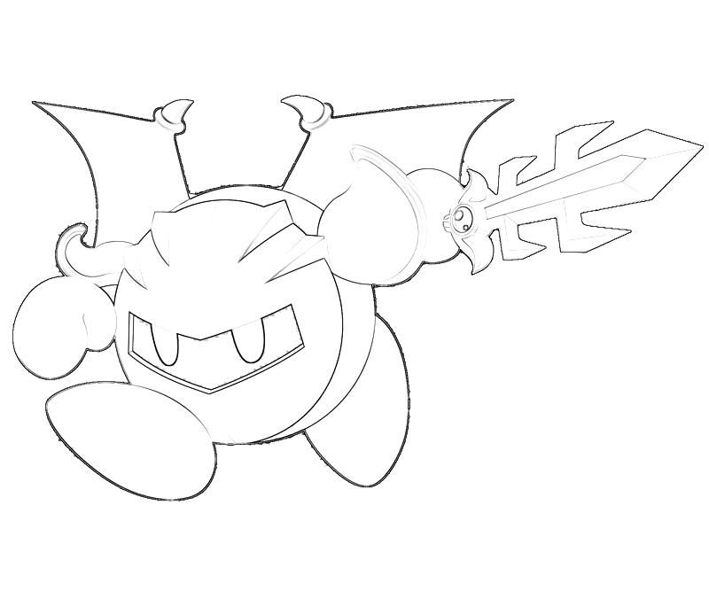 Meta Knight Coloring Pages Coloring Home Meta Coloring Pages