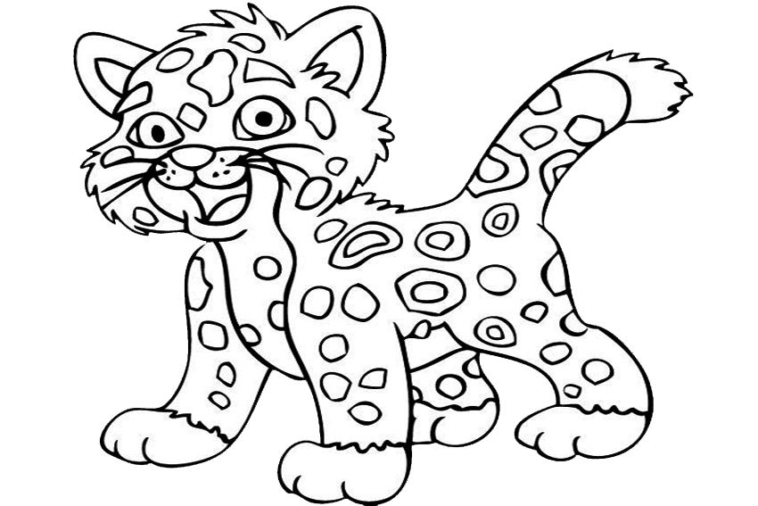Jaguar Pictures To Color Coloring Home