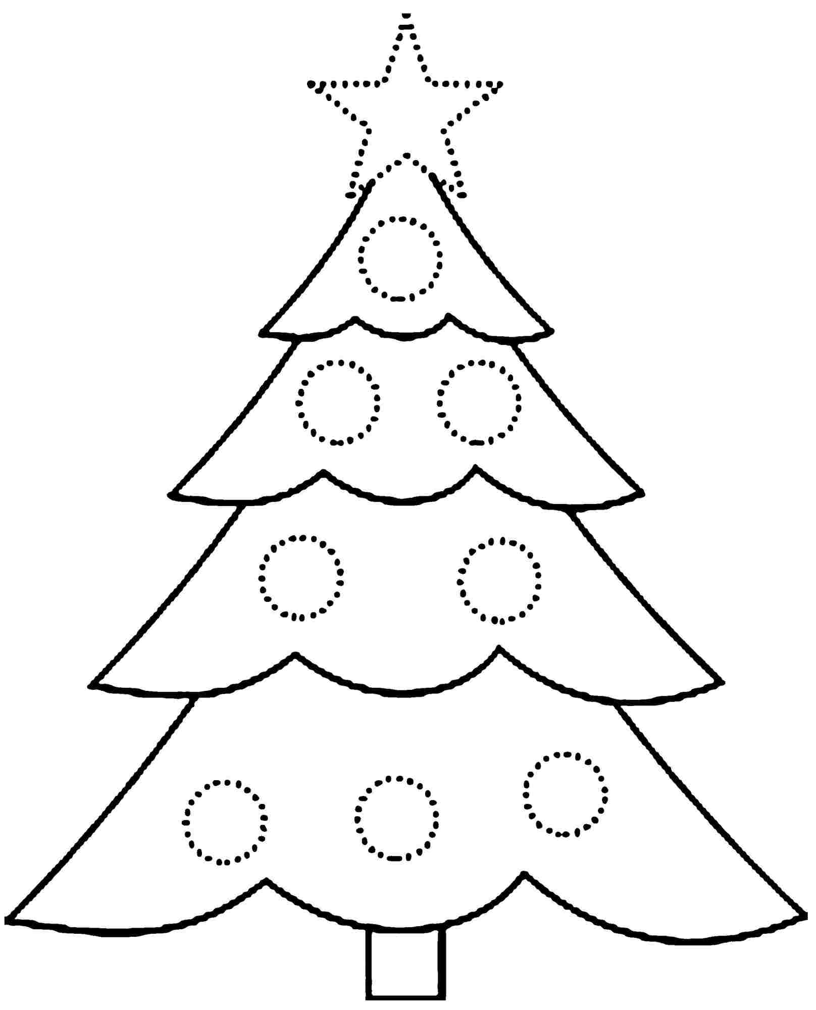 free printable christmas tree coloring page coloring home