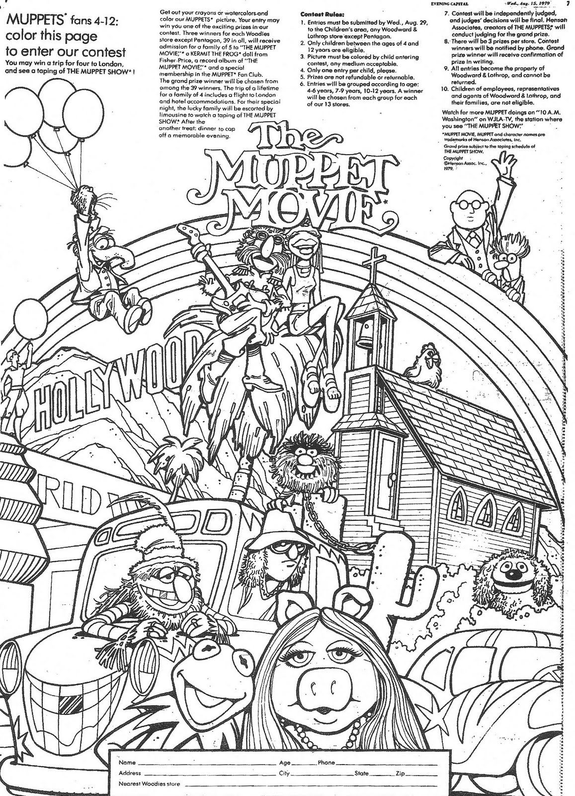 free muppet coloring pages - photo#36
