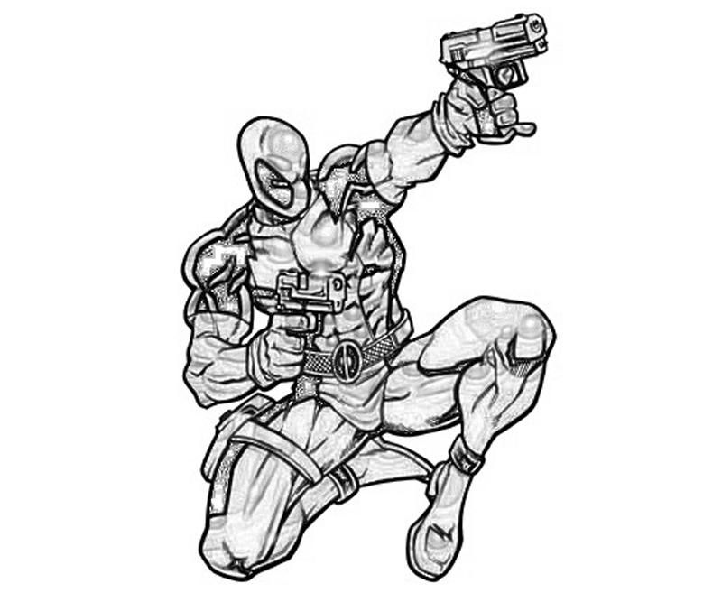 Deadpool Vs Deathstroke Coloring Pages For Pinterest Coloring Home