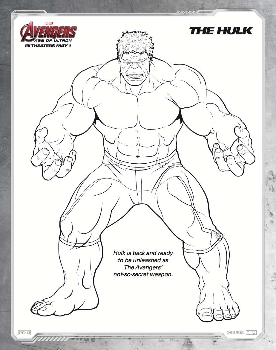 Hulk Avengers Coloring Pages - Coloring Home