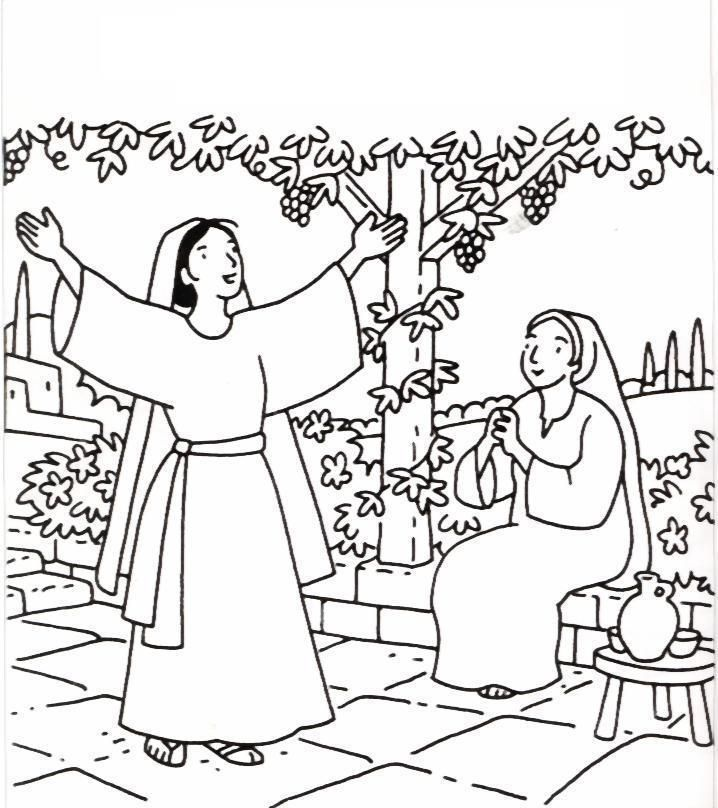 elizabeth bible coloring pages - photo#17