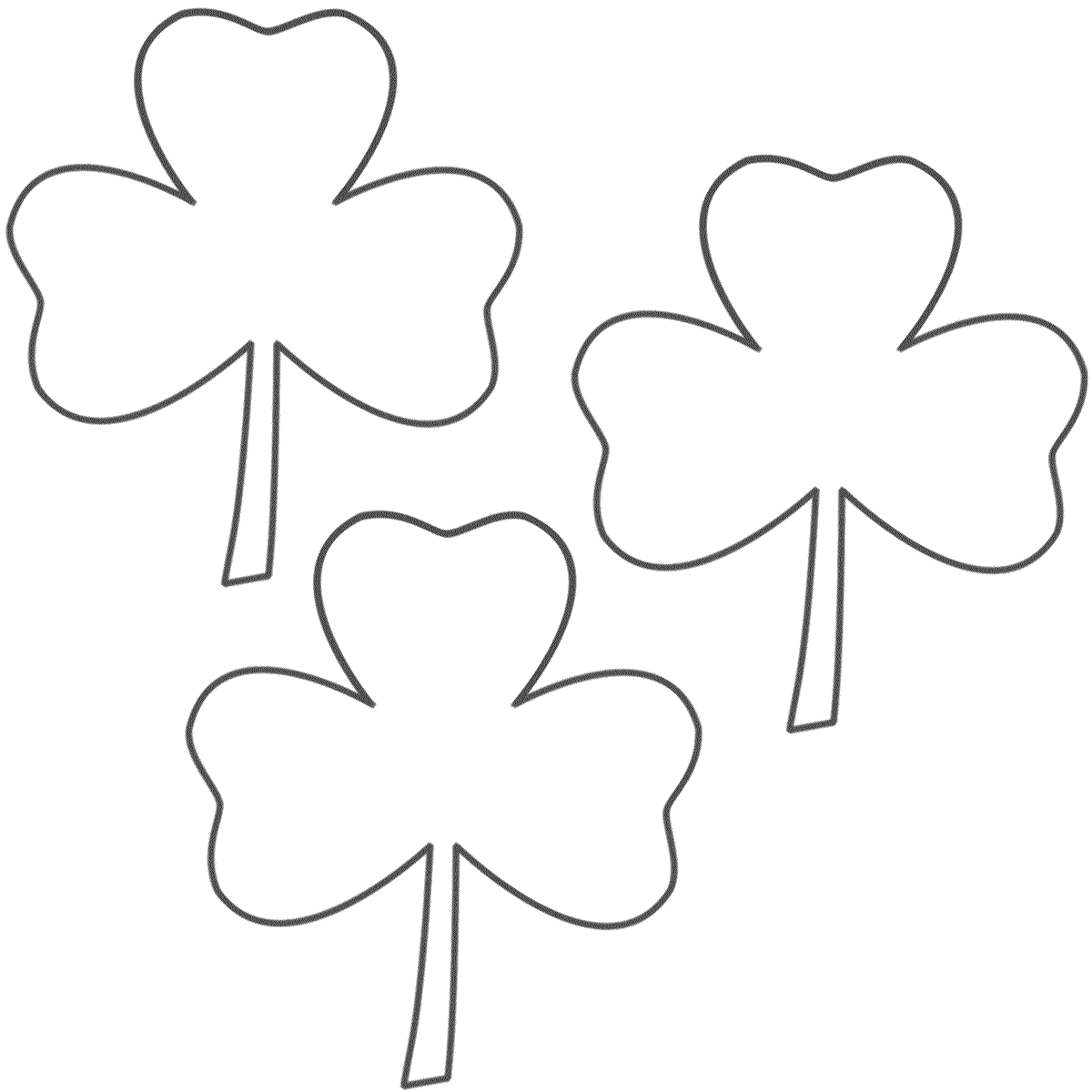 St Patrick Day Shamrock Coloring Pages - Coloring Home