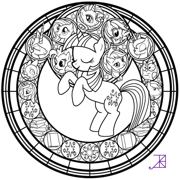 simple stained glass coloring pages - photo#22