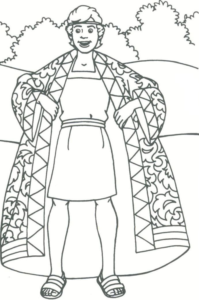 joseph bible story coloring pages. joseph and his family coloring ...