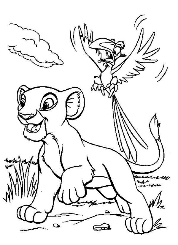 zazu coloring pages