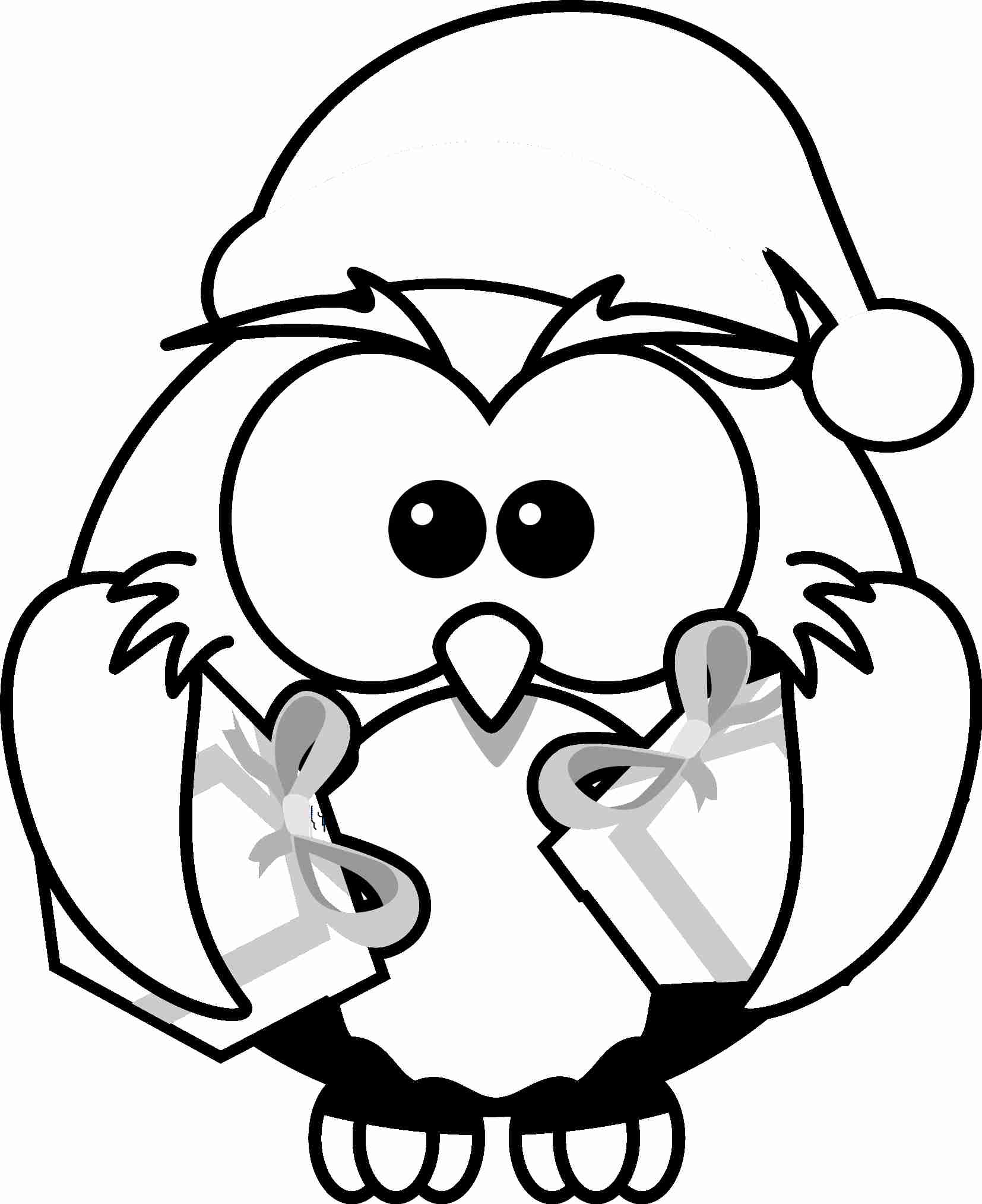 Christmas penguin coloring pages printable az coloring pages for Christmas kitten coloring pages