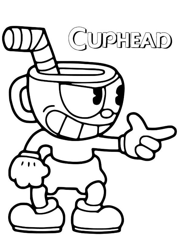 Drawing 3 From Cuphead Coloring Page - Coloring Home