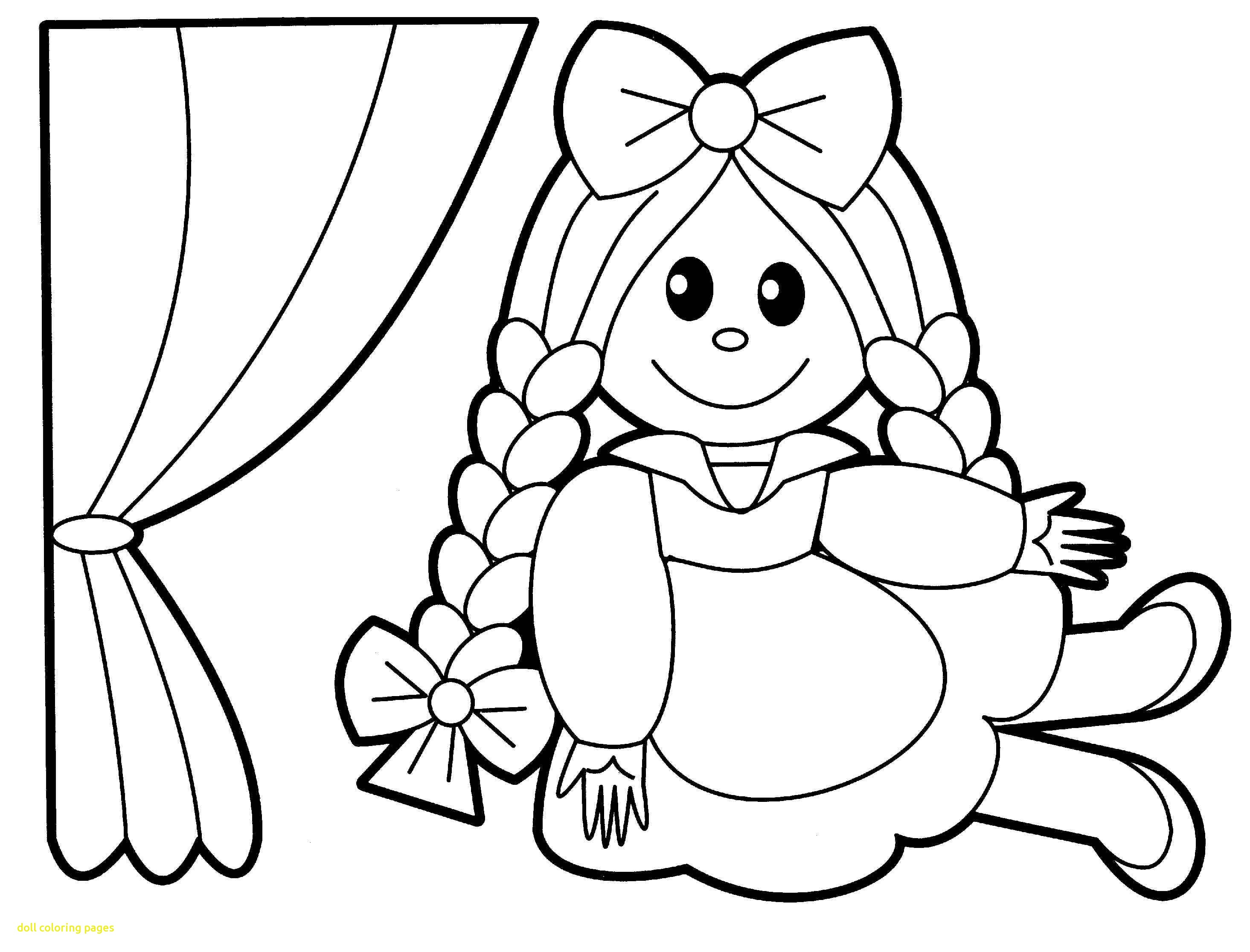 Baby Doll Coloring Page At Getdrawings Free Download Coloring Home