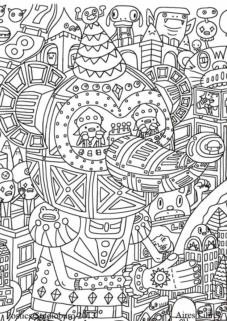 Free Printable Zentangle Coloring Pages - Coloring Home
