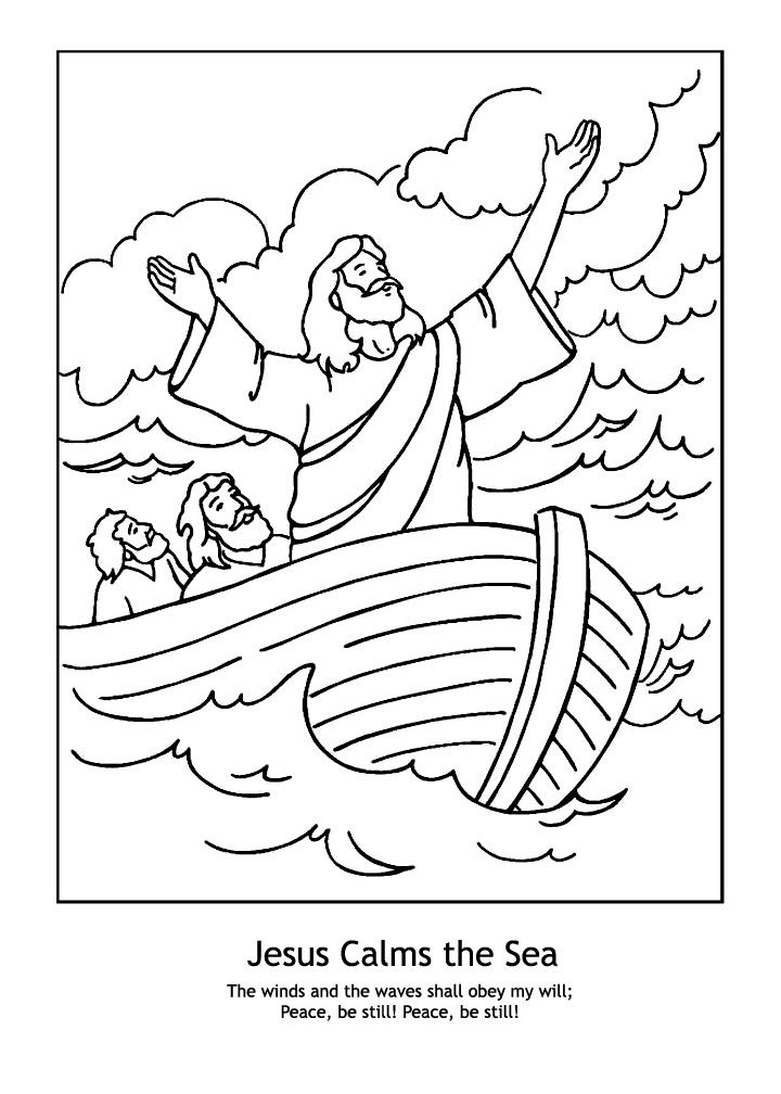 coloring pages about jesus - jesus calms the storm coloring pages coloring home