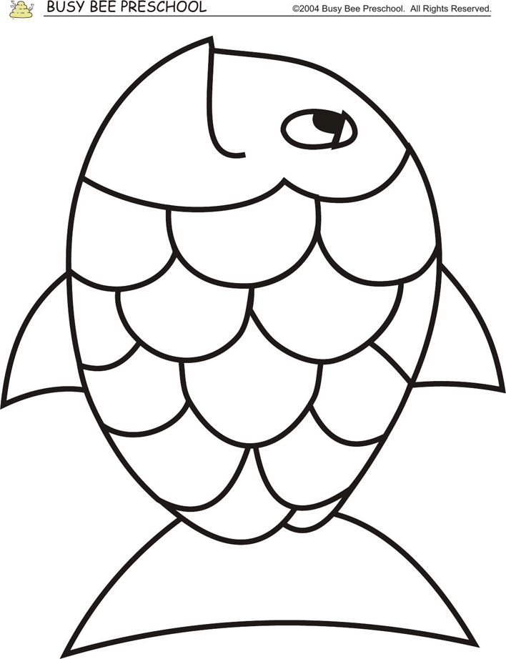 Rainbow Coloring Pages Pdf : Rainbow fish template coloring home