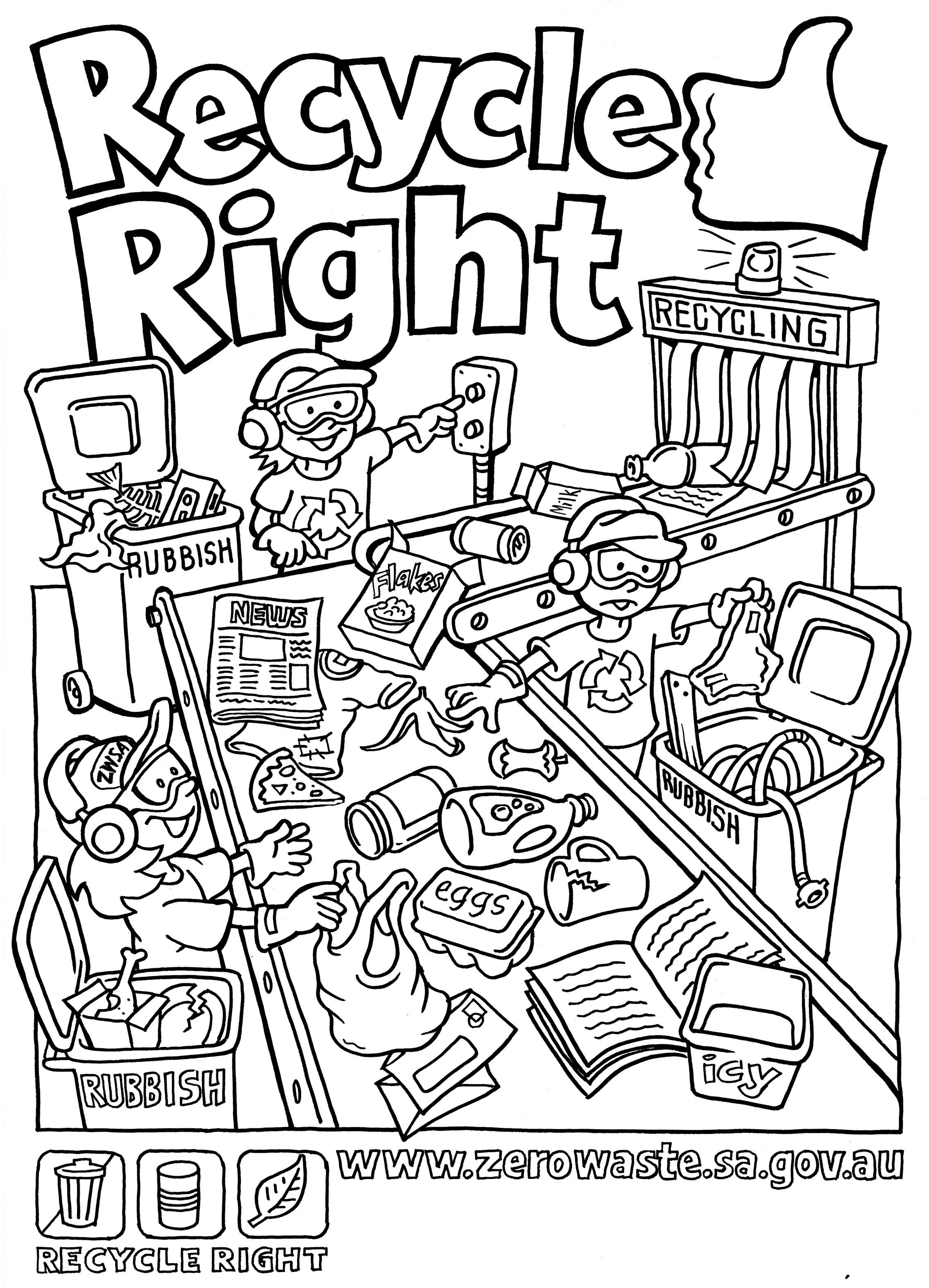 coloring page 1 truck of recycling waste coloring page sky