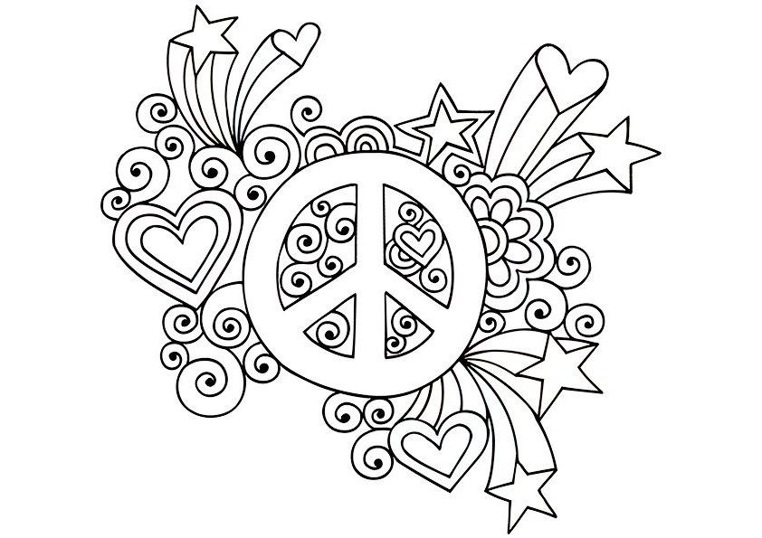 Free Psychedelic Colouring Pages Throughout Trippy Coloring Pages