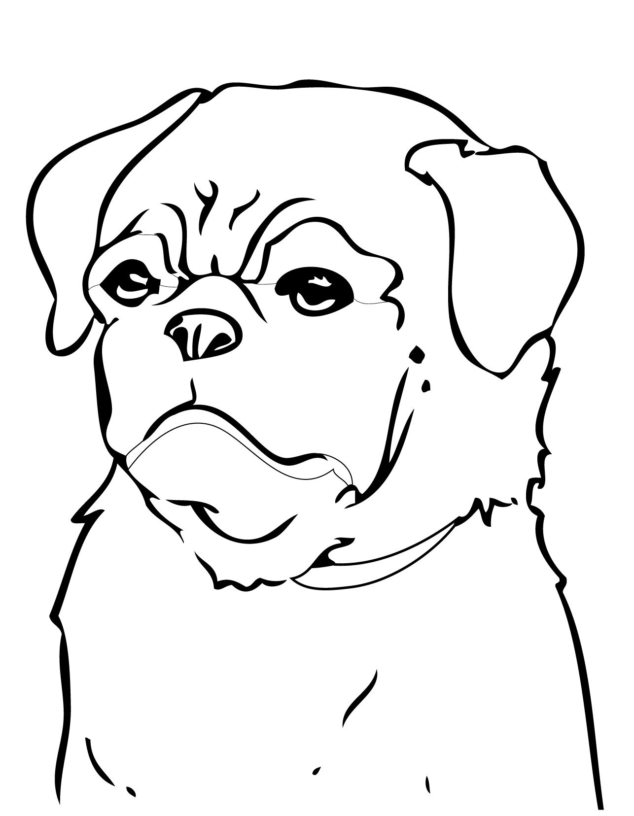 pug coloring pages - photo#29