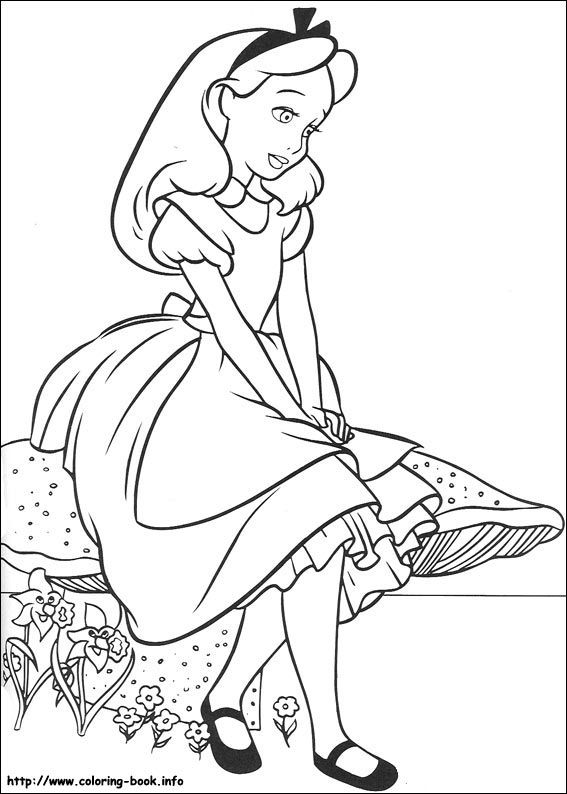 Alice In Wonderland Coloring Pages On Coloring-Book.info - Coloring Home